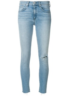 Rag & Bone Lena raw hem skinny jeans - Blue