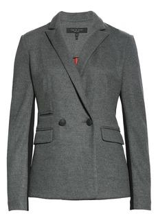 rag & bone Leon Contrast Panel Wool Jersey Jacket