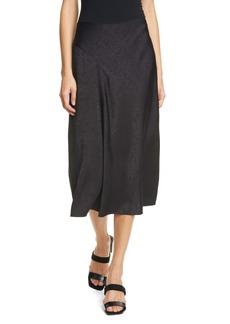 rag & bone Letti Satin Jacquard Midi Skirt