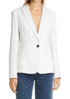 rag & bone Lexington Stripe Linen Blend Blazer