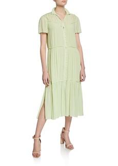 Rag & Bone Libby Tiered Seam Crinkle Dress