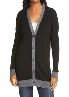 rag & bone Lightweight Merino Wool Ribbed Cardigan