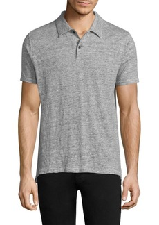 Rag & Bone Linen Short-Sleeve Polo