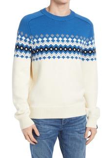 rag & bone Lloyd Fair Isle Crewneck Sweater