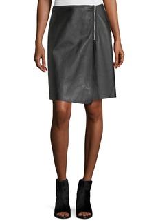 Rag & Bone Lloyd Side-Zip A-Line Leather Skirt