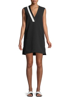 Rag & Bone Lodwick Sleeveless V-Neck Cotton Shift Dress