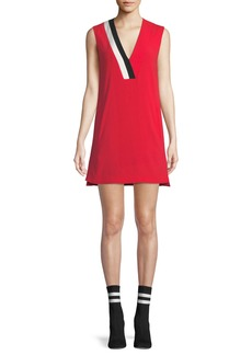 Rag & Bone Lodwick Sleeveless V-Neck Shift Dress