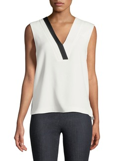 Rag & Bone Lodwick V-Neck Sleeveless Crepe Top