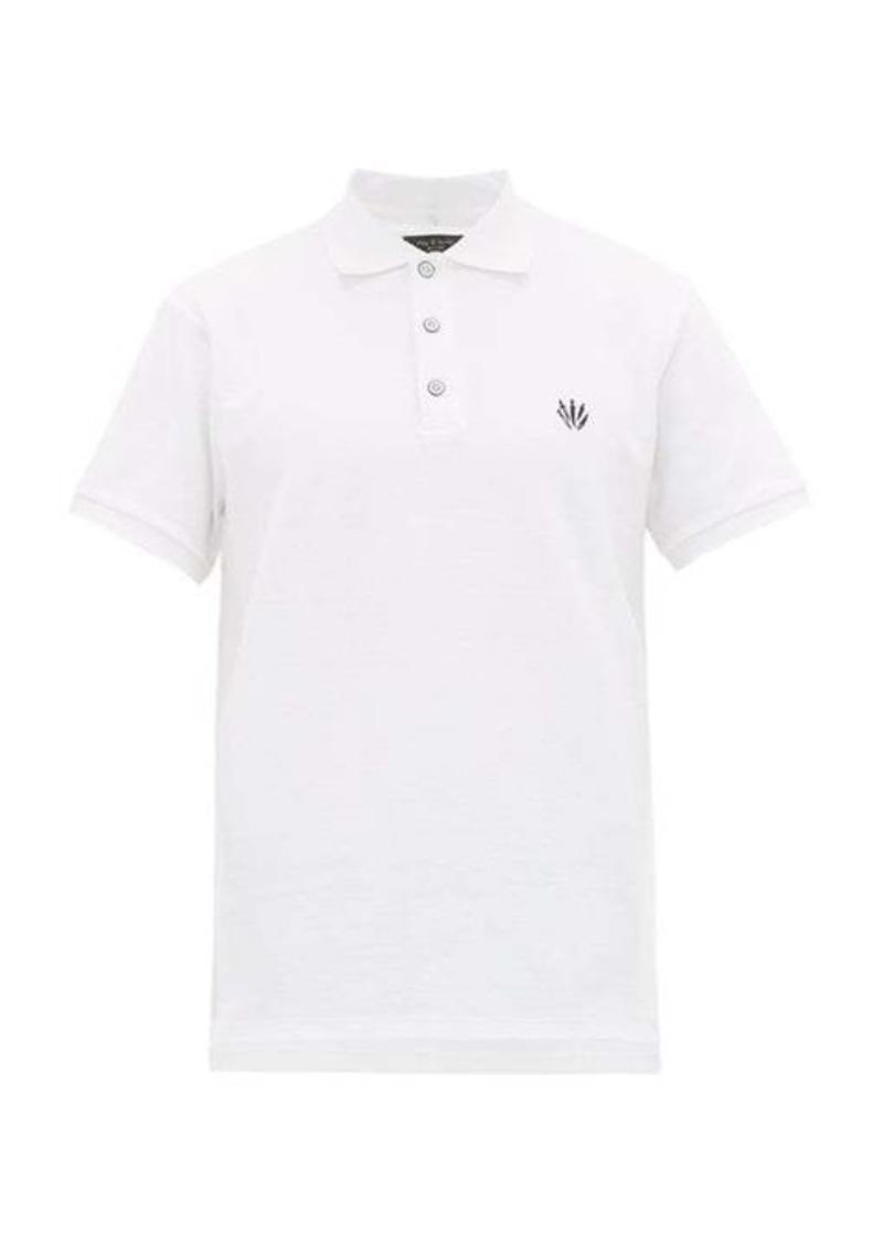 Rag & Bone Logo-embroidered cotton-piqué polo shirt