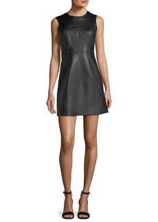 Rag & Bone Loxley Sleeveless Leather Mini Dress
