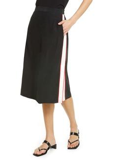 rag & bone Luca Side Stripe Silk Skirt