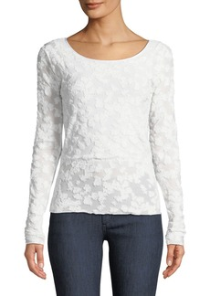 Rag & Bone Lucie Long-Sleeve Burnout Top