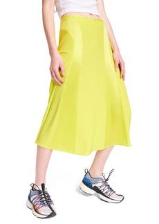 rag & bone Lucille Silk Charmeuse Midi Slip Skirt