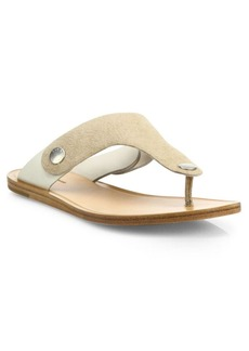 Rag & Bone Luna Suede & Leather Thong Sandals