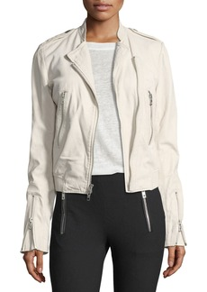 Rag & Bone Lyon Washed Leather Moto Jacket