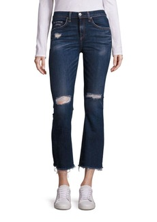 Rag & Bone Mabel Distressed Cropped Flared Jeans
