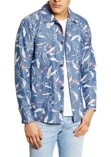 rag & bone Mace Slim Fit Graphic Print Shirt Jacket
