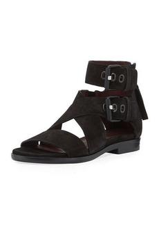 Rag & Bone Madeira Suede Ankle-Cuff Flat Sandal