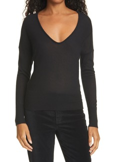rag & bone Mandee Deep V-Neck Cashmere Sweater