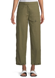 Rag & Bone Marion Snap-Side Straight-Leg Pants