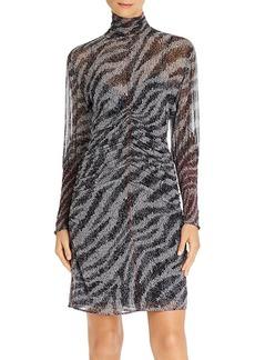 rag & bone Maris Sheer Silk Zebra Mini Dress