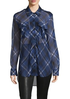 Rag & Bone Mason Long-Sleeve Silk Patterned Shirt