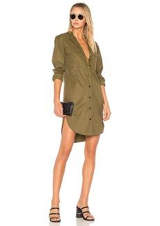 Rag & Bone Mason Shirt Dress in Olive. - size S (also in XS, XXS)