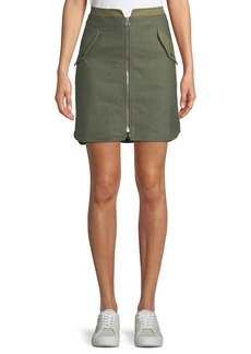 Rag & Bone Maverick Zip-Front Cotton Skirt