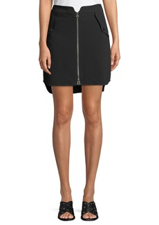 Rag & Bone Maverick Zip-Front Crepe Skirt