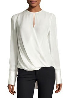 Rag & Bone Max Long-Sleeve Silk Blouse