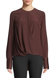 Rag & Bone Max Long-Sleeve Silk Charmeuse Blouse