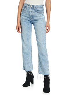 Rag & Bone Maya High-Rise Straight-Leg Crop Jeans