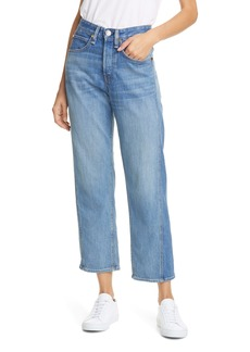 rag & bone Maya High Waist Ankle Straight Leg Jeans (Clean Sonny)