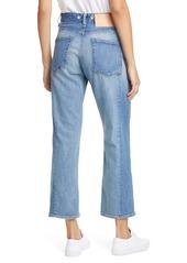 rag & bone Maya High Waist Ankle Straight Leg Jeans (Clean Sonny)