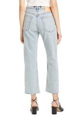 rag & bone Maya High Waist Ankle Straight Leg Jeans (Olson)