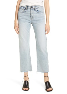 rag & bone Maya High Waist Ankle Straight Leg Jeans (Olson)