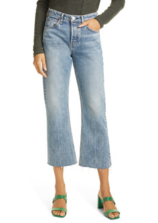 rag & bone Maya High Waist Crop Flare Jeans (Farrow)