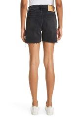 rag & bone Maya Nonstretch High Waist Raw Hem Cutoff Denim Shorts