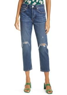 rag & bone Maya Ripped High Waist Ankle Slim Straight Leg Jeans (Emory)