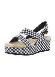 Rag & Bone Megan Gingham Platform Sandal
