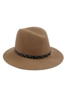 Rag & Bone Melange Wool Felt & Leather Fedora