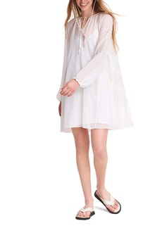 rag & bone Melody Long Sleeve Silk & Cotton Minidress