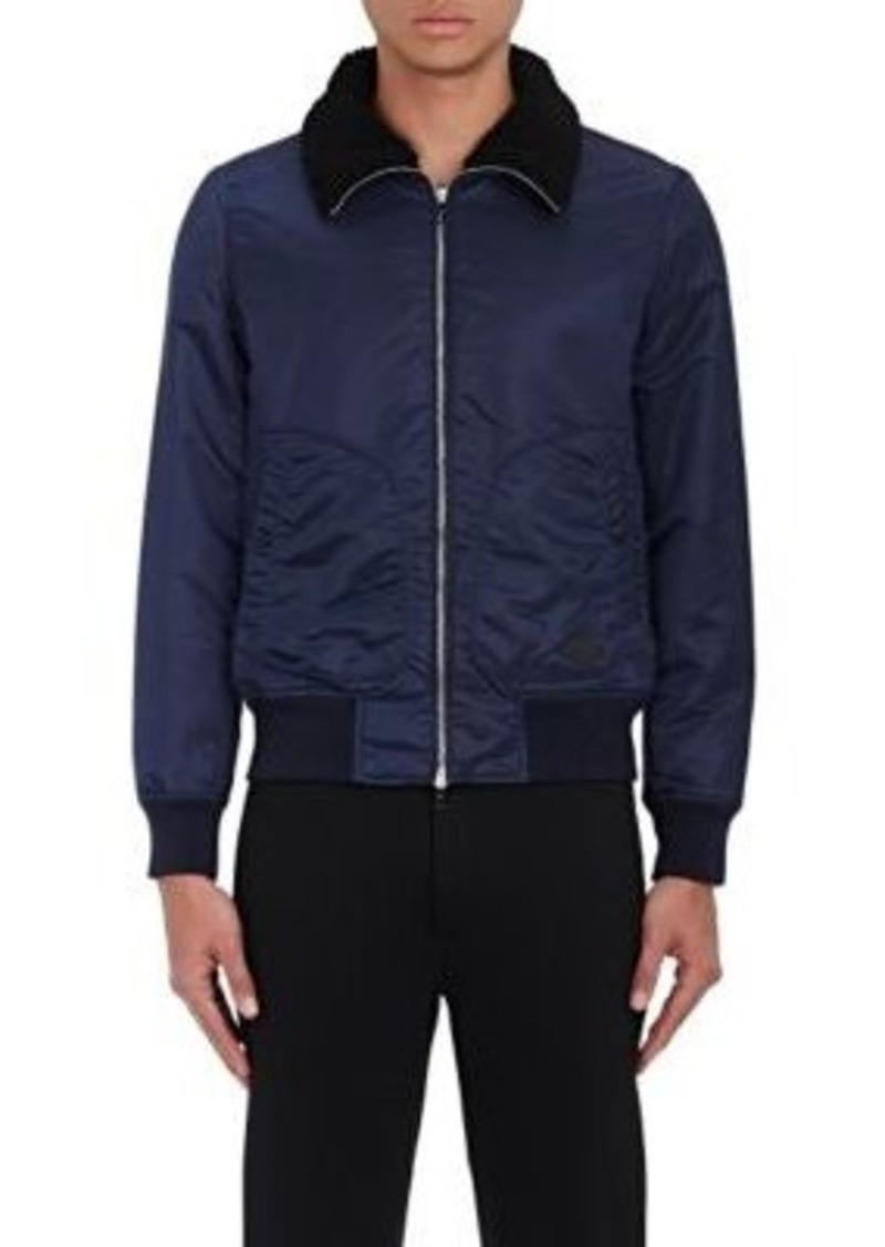 Rag & Bone Men's Bayes Shearling-Trimmed Bomber Jacket
