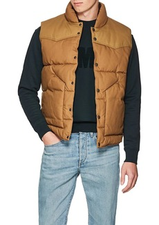 Rag & Bone Men's Cotton Canvas Padded Vest