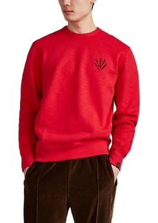 Rag & Bone Men's Dagger-Embroidered Cotton Sweatshirt