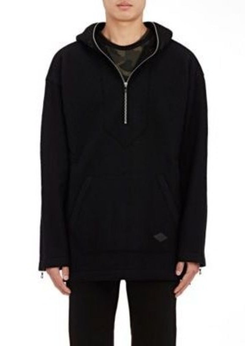 Rag & Bone Men's Drexel Wool Fleece Hoodie-Black Size M