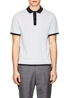 Rag & Bone Men's Finn Striped Cotton-Blend Polo Shirt