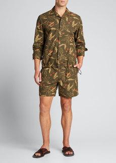 Rag & Bone Men's Jackson Floral-Print Shorts