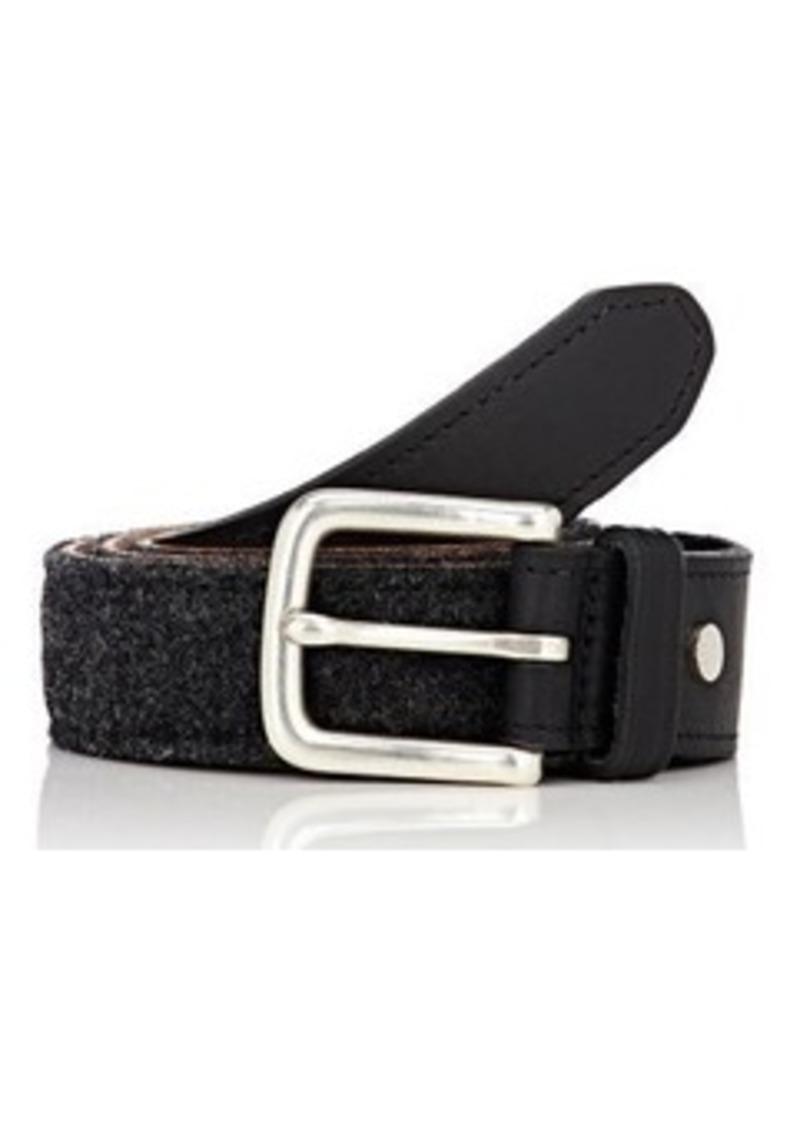 Rag & Bone Men's Leather & Wool Boater Belt-GREY Size 34
