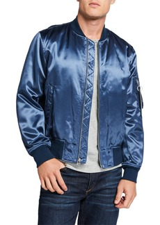 Rag & Bone Men's Manston Satin Bomber Jacket